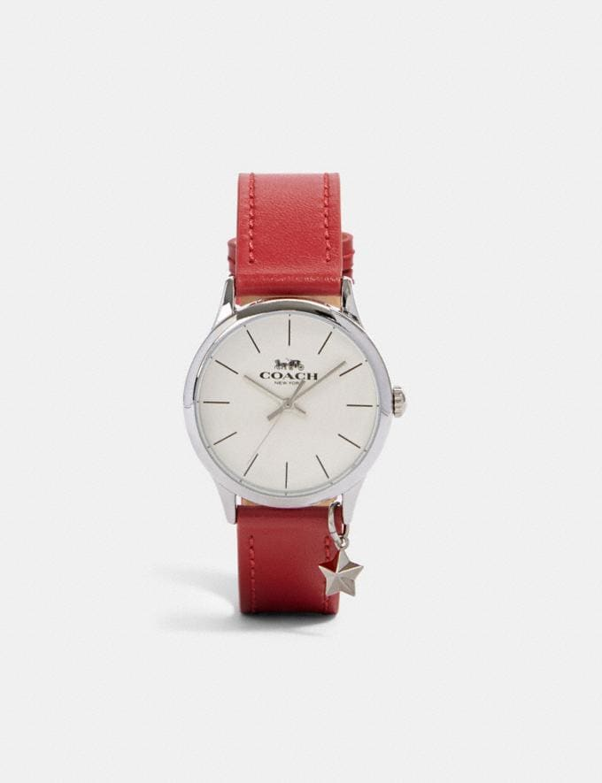 Coach Ruby Watch, 32mm Red/White