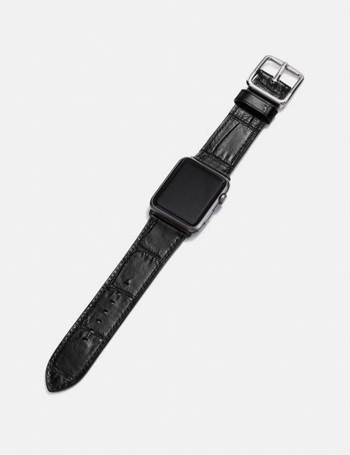 Coach Apple Watch® Strap Black  Alternate View 1