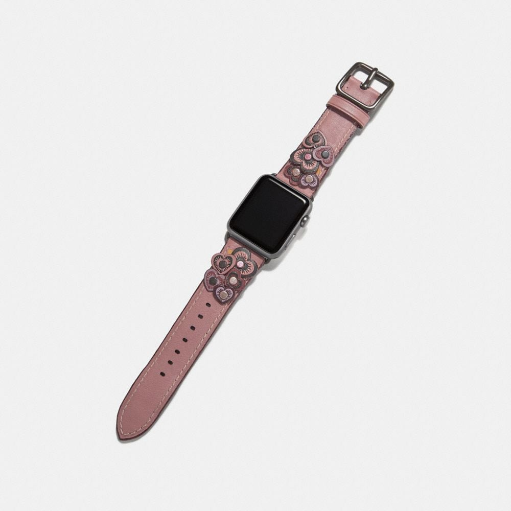 Coach Apple Watch® Strap With Heart Applique Alternate View 1