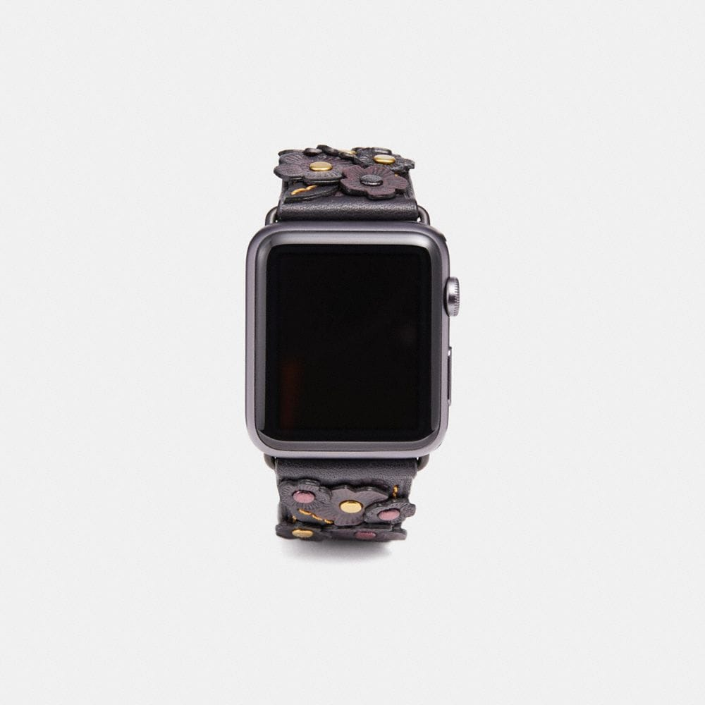 Coach Apple Watch® Strap With Tea Rose Applique