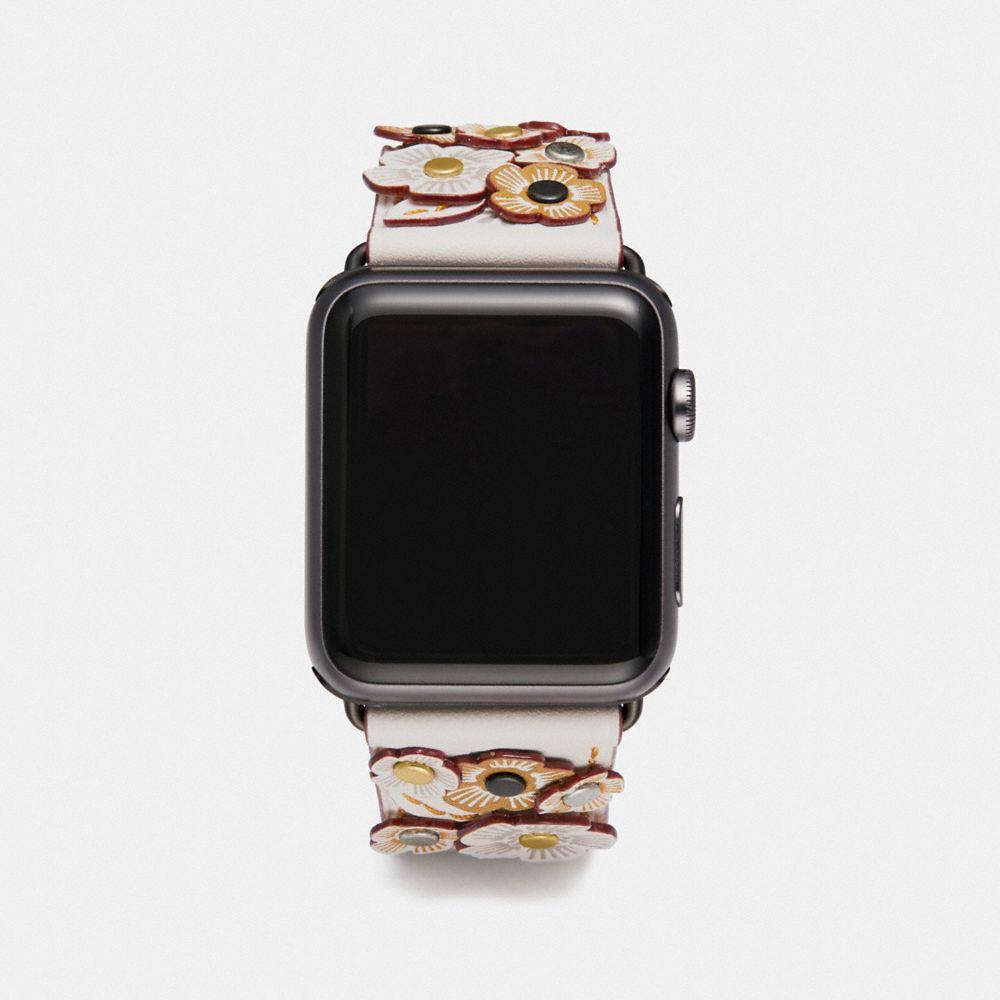 Coach Apple Watch® Strap With Tea Rose Applique