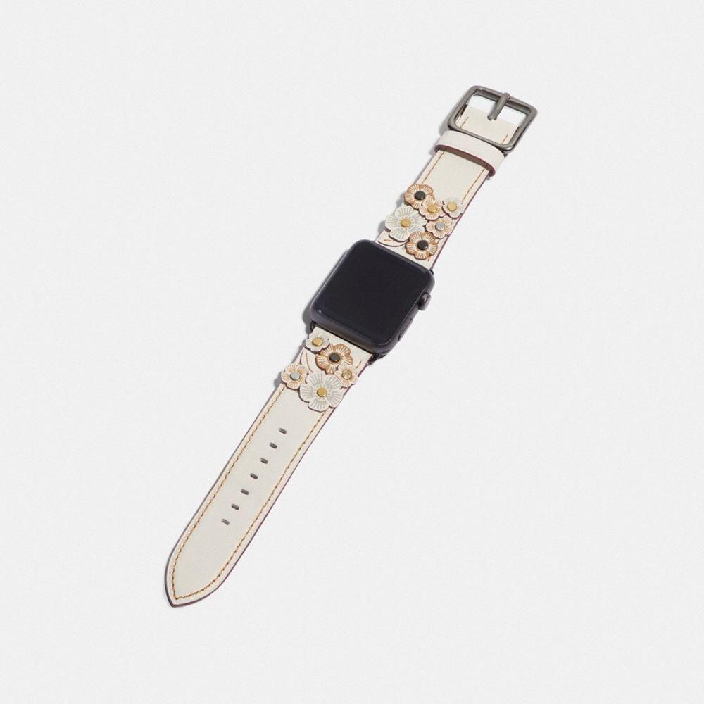 Coach Apple Watch® Strap With Tea Rose Applique Alternate View 1