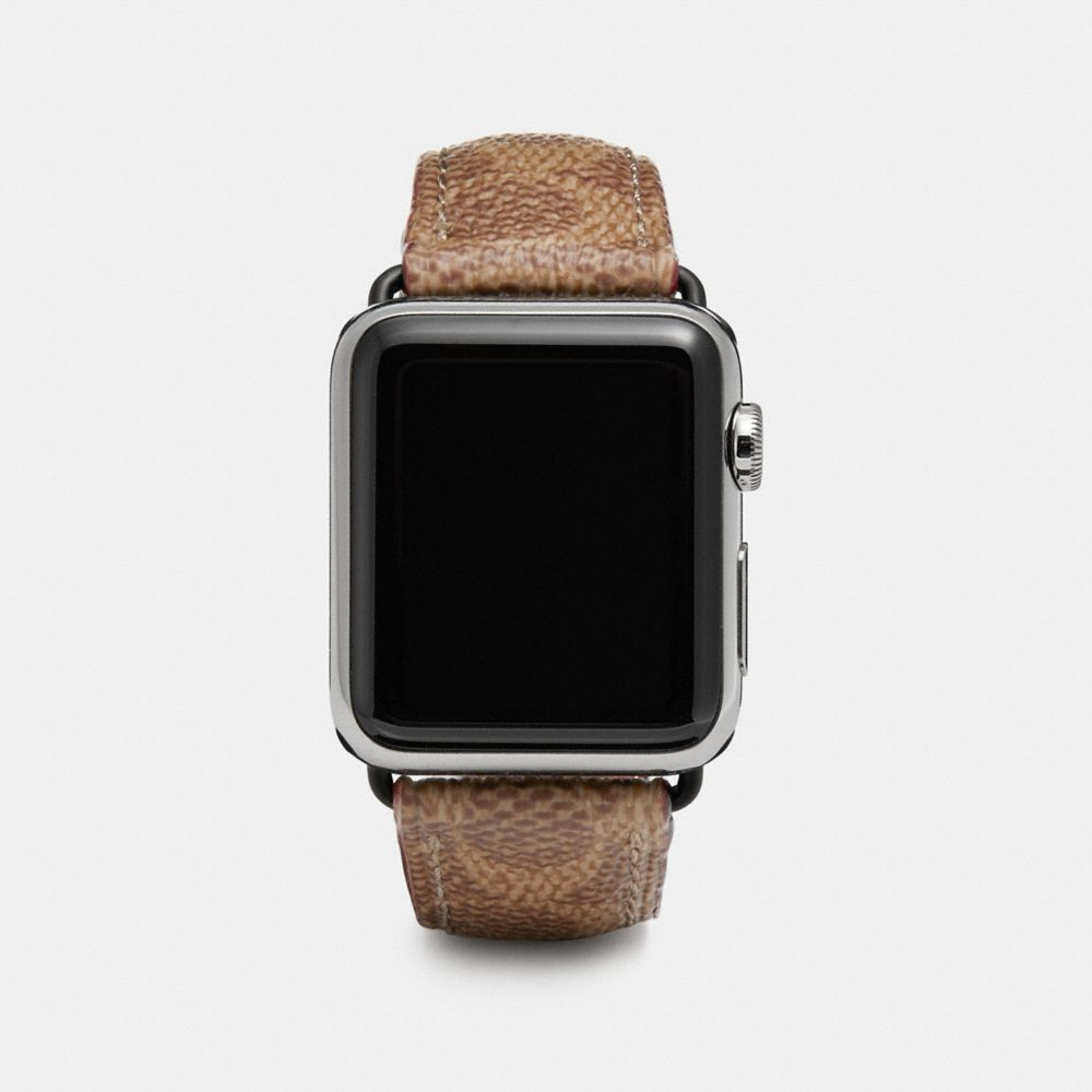Coach Apple Watch® Strap in Signature Canvas