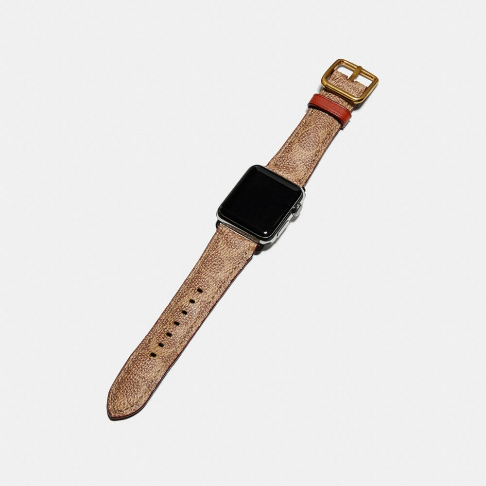 Coach Apple Watch® Strap in Signature Canvas Alternate View 1