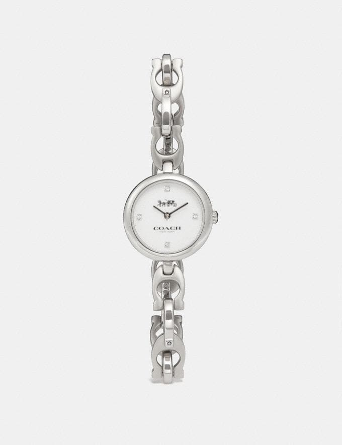 Coach Signature Chain Watch, 26mm Ss Women Accessories Watches