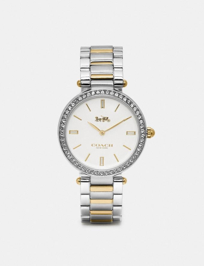Coach Park Watch, 34mm Two Tone Women Accessories Watches