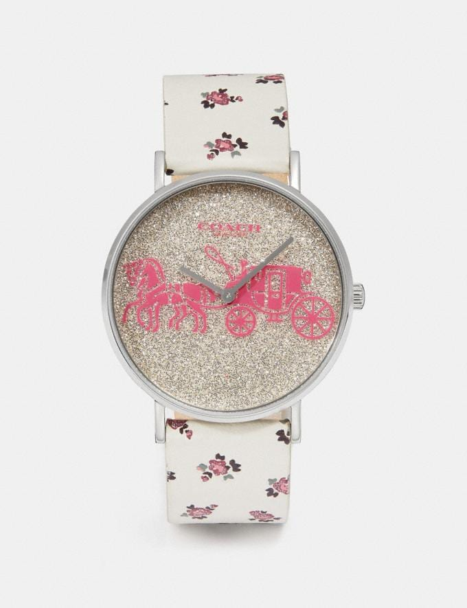 Coach Perry Watch, 36mm Chalk New Women's New Arrivals Accessories