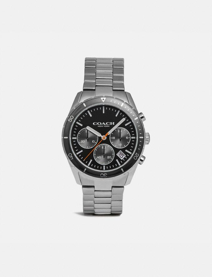 Coach Thompson Sport Watch, 41mm Silver/Black Gift Holiday Shop Stocking Fillers For Him