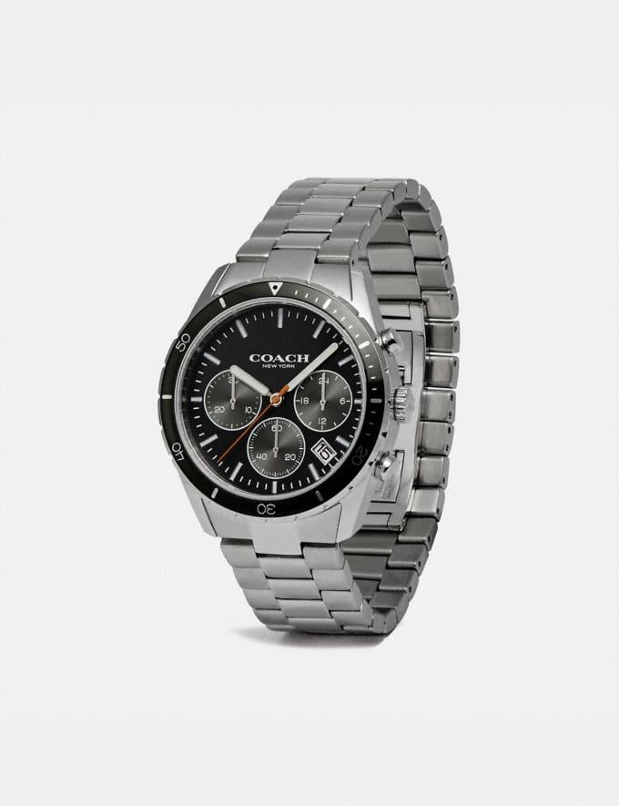 Coach Thompson Sport Watch, 41mm Silver/Black Gift Holiday Shop Stocking Fillers For Him Alternate View 1