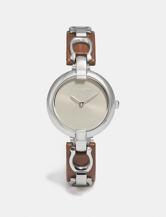 Coach Chrystie Watch, 32mm Saddle SALE Women's Sale Jewellery and Watches