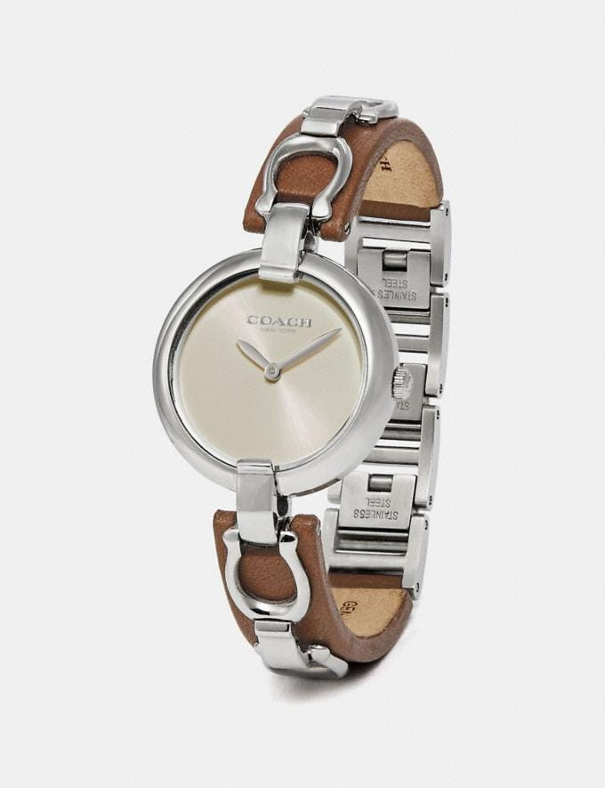 Coach Chrystie Watch, 32mm Saddle SALE Women's Sale Jewellery and Watches Alternate View 1