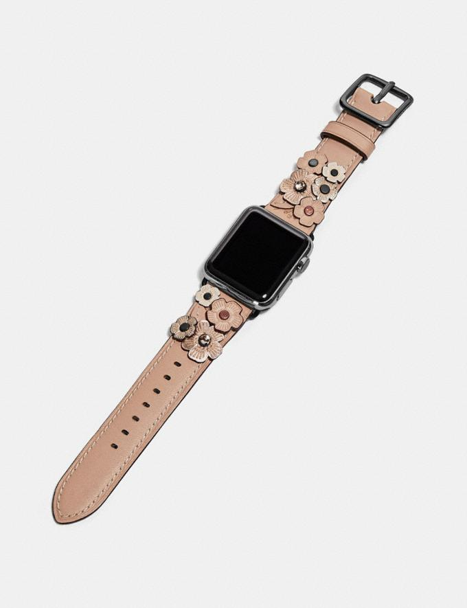 Coach Apple Watch® Strap With Crystal Tea Rose Pink Women Accessories Alternate View 1