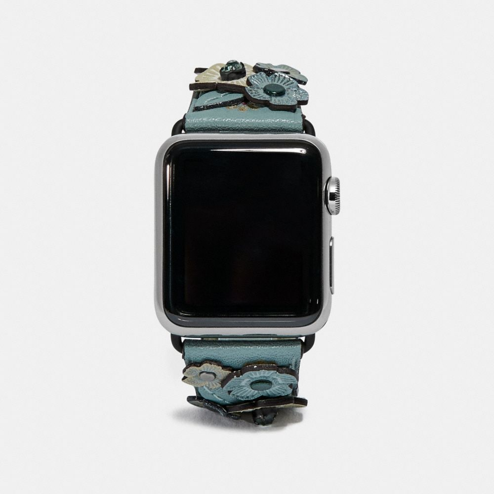 APPLE WATCH® STRAP WITH CRYSTAL TEA ROSE