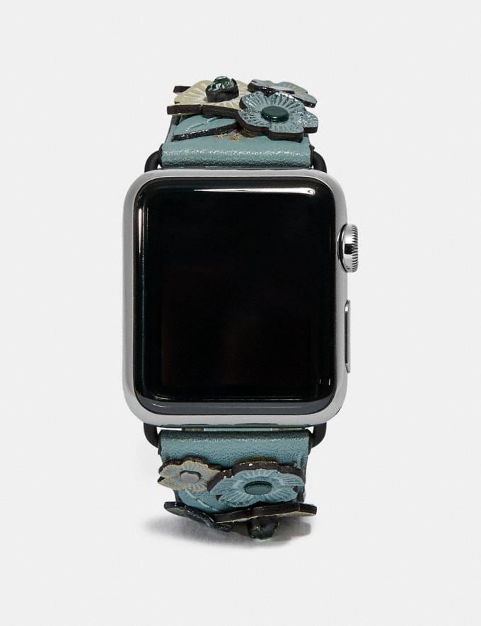 Coach Apple Watch® Strap With Crystal Tea Rose Sage Women Accessories