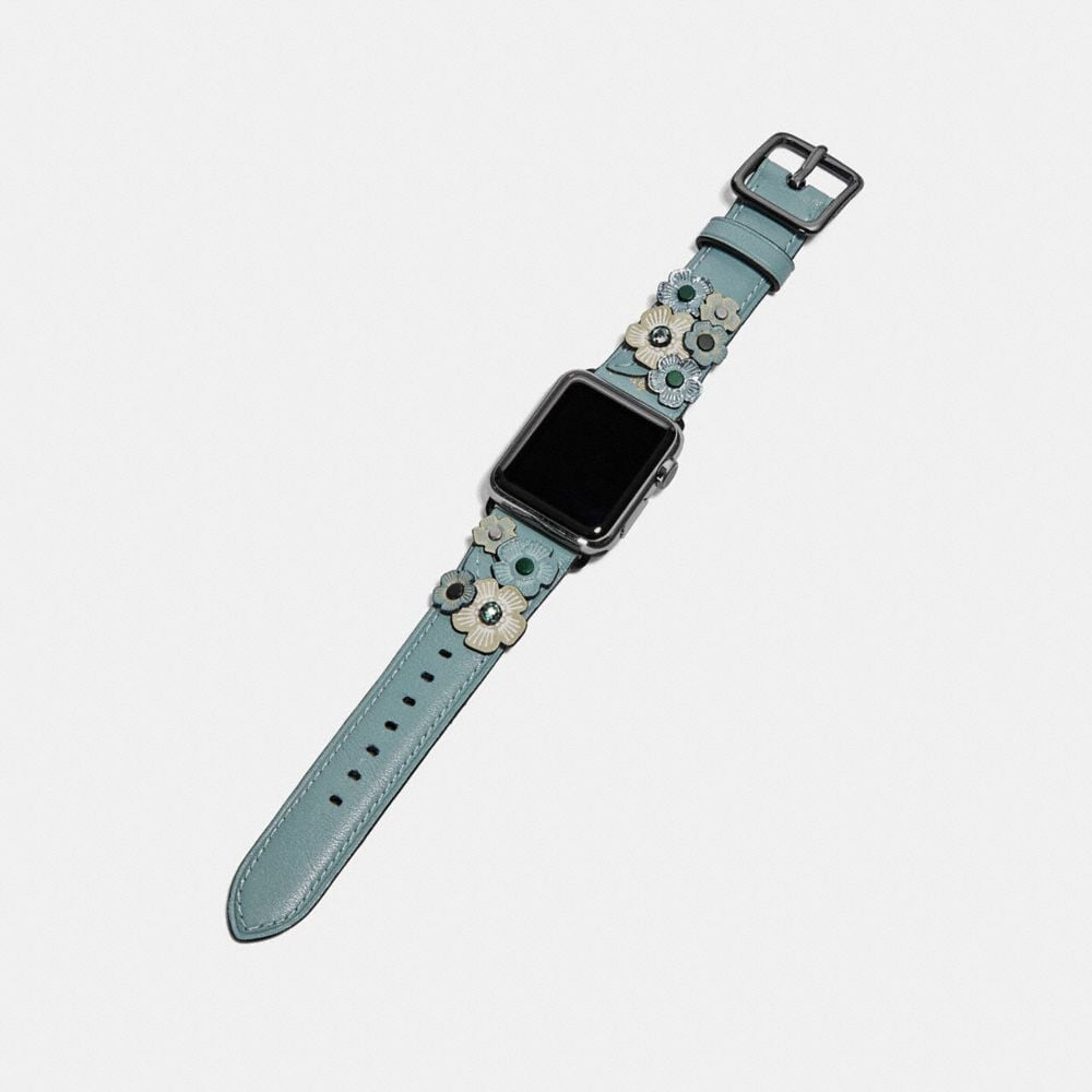Coach Apple Watch® Strap With Crystal Tea Rose Alternate View 1