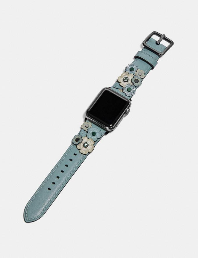f697a88b9a Bracelet Apple Watch® Avec Motif Rose Thé En Cristal