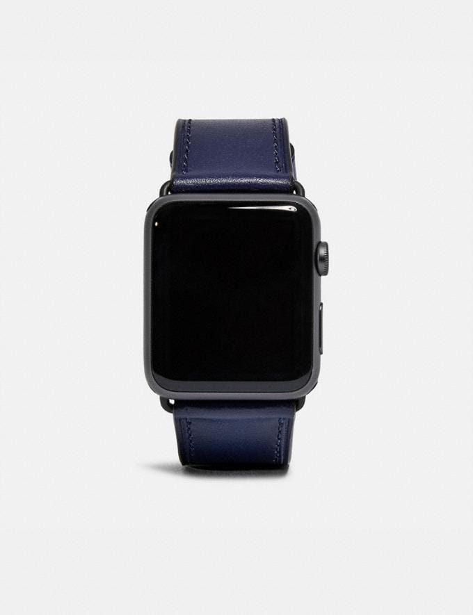 Coach Apple Watch® Strap Cadet Men Edits Work