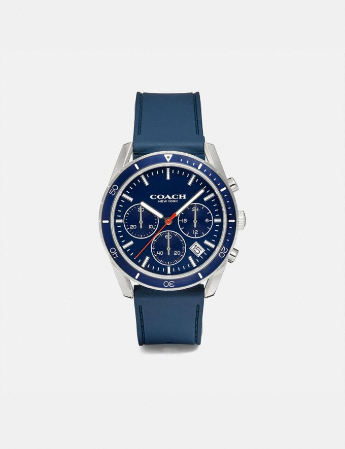 Coach Thompson Sport Watch, 41mm Navy Gift Holiday Shop Stocking Fillers For Him
