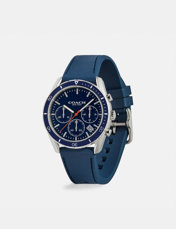 Coach Thompson Sport Watch, 41mm Navy Gift Holiday Shop Stocking Fillers For Him Alternate View 1