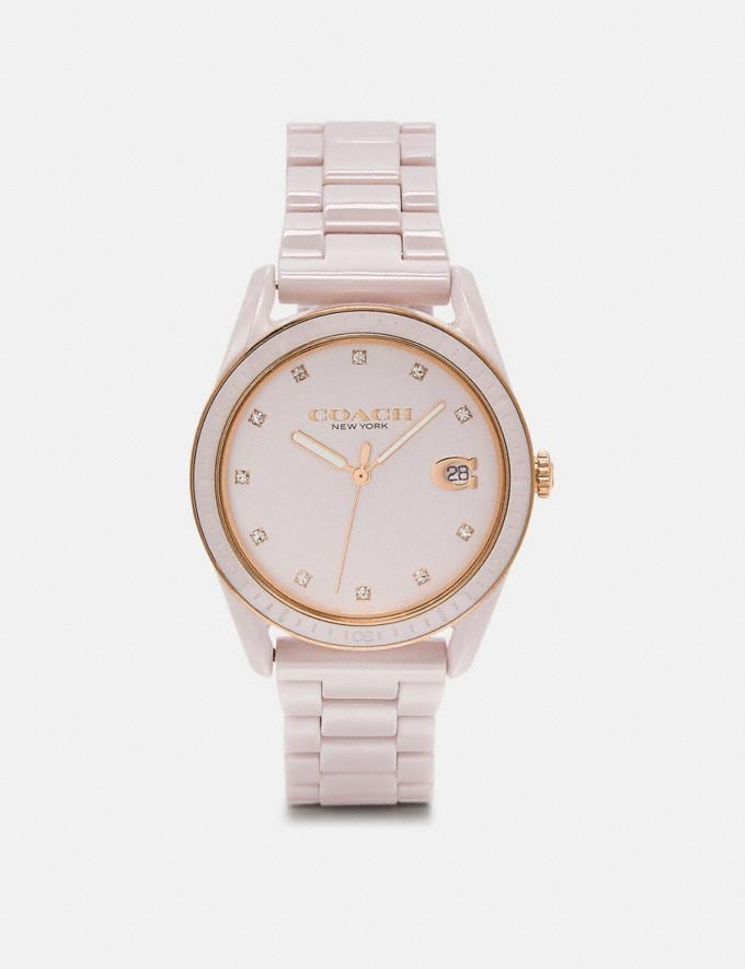 Coach Preston Sport Watch, 36mm Pink Women Accessories