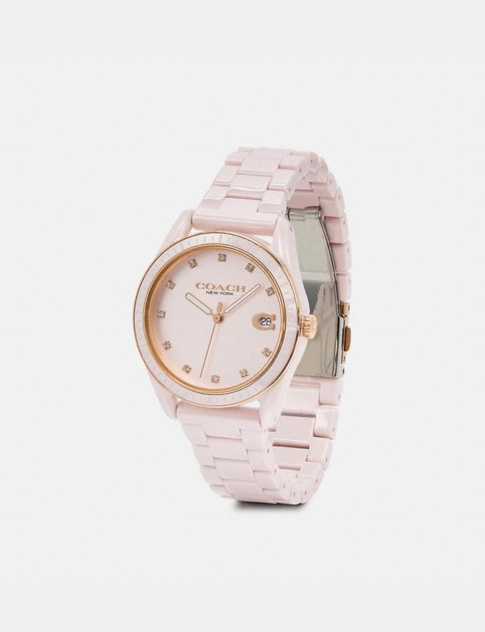 Coach Preston Sport Watch, 36mm Pink Women Accessories Alternate View 1