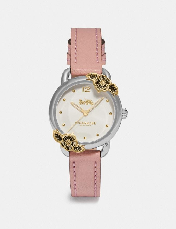 Coach Delancey Watch, 28mm Nude Pink Women Accessories