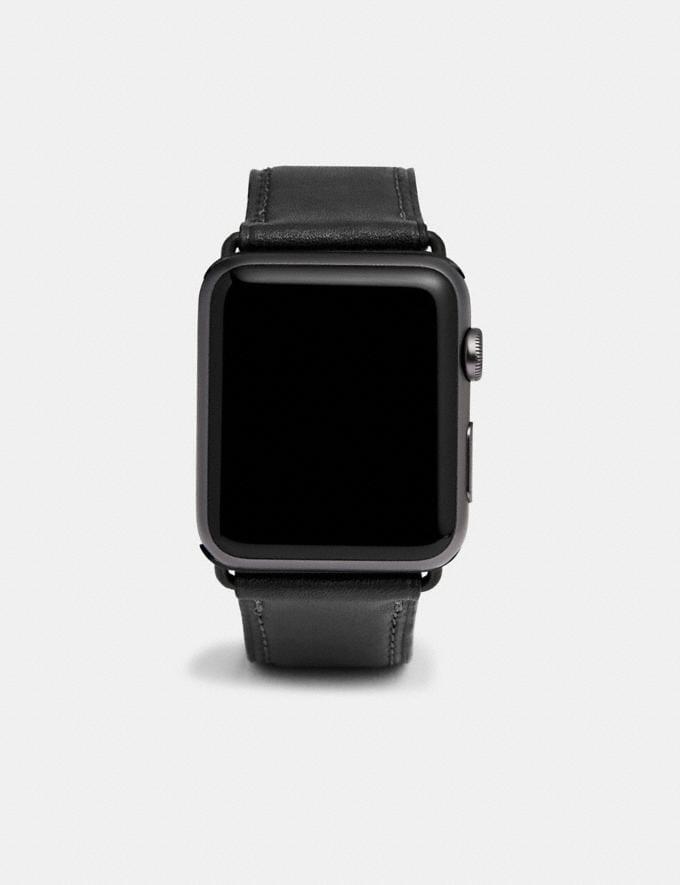 Coach Apple Watch® Strap Black New Women's New Arrivals Accessories