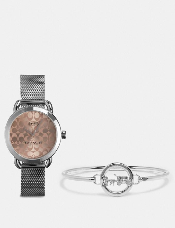 Coach Lex Watch Gift Set, 32mm Stainless Steel Clearance Wallets & Accessories