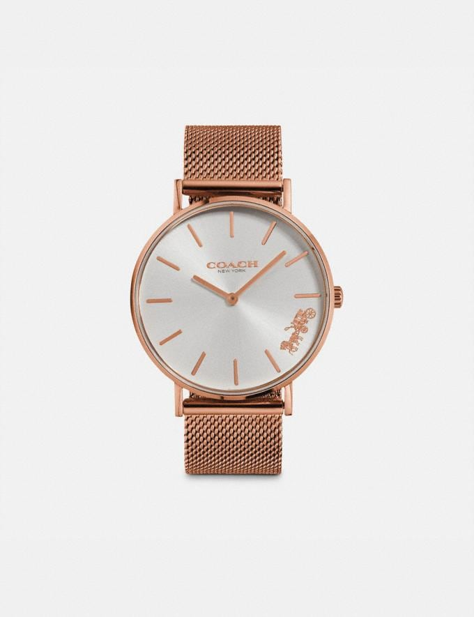 Coach Perry Watch, 36mm Rose Gold Women Accessories Watches