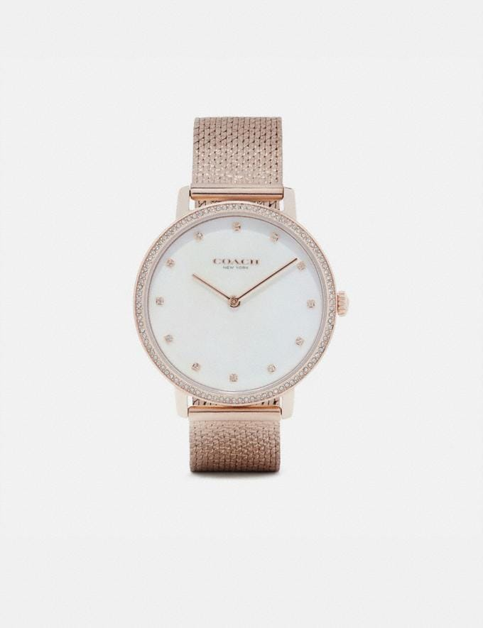 Coach Audrey Pave Watch, 35mm Carnation Gold Women Accessories Watches