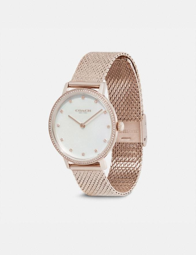 Coach Audrey Pave Watch, 35mm Carnation Gold Neu Neuheiten für Damen Accessoires Alternative Ansicht 1