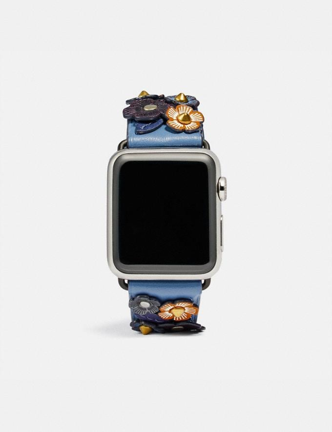 Coach Apple Watch® Strap With Tea Rose Stone Blue/Cadet Women Accessories Jewelry & Watches
