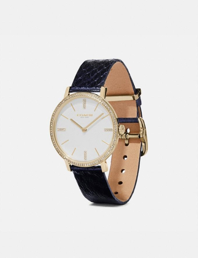 Coach Audrey Watch, 35mm Navy SALE Women's Sale Jewellery and Watches Alternate View 1