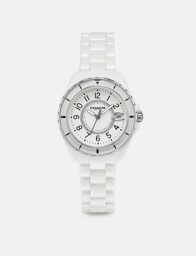 Coach Preston Sport Watch, 32mm White Women Accessories Watches