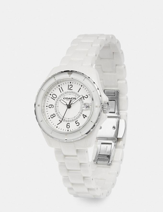 Coach Preston Sport Watch, 32mm White Women Accessories Watches Alternate View 1