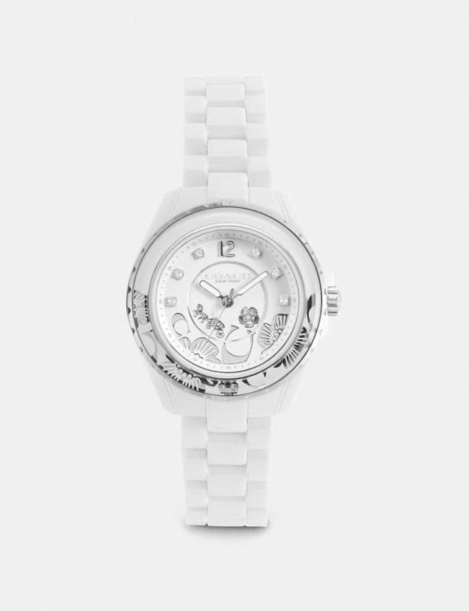 Coach Preston Sport Watch, 32mm White Women Accessories Jewelry & Watches