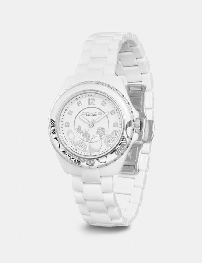 Coach Preston Sport Watch, 32mm White Women Accessories Jewelry & Watches Alternate View 1