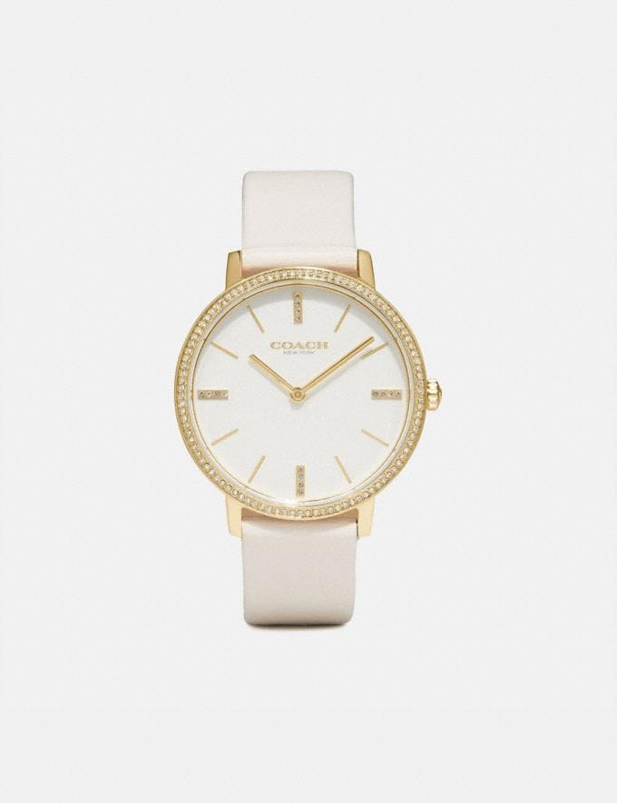 Coach Audrey Watch, 35mm Chalk Women Accessories Jewelry & Watches
