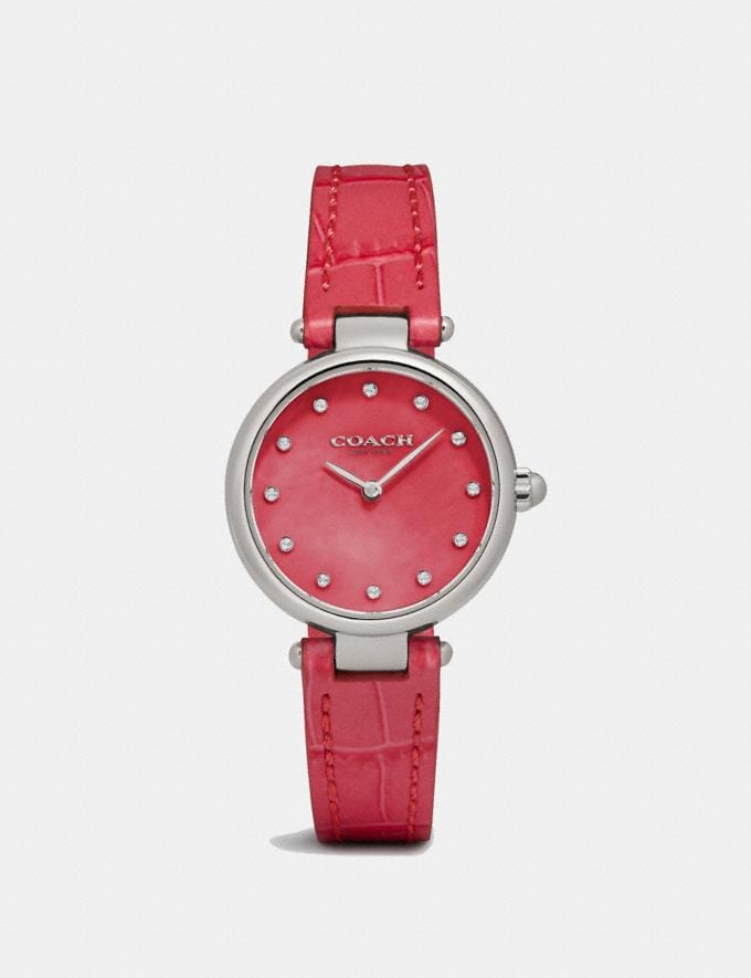 Coach Park Watch, 26mm Dark Pink Women Accessories Watches