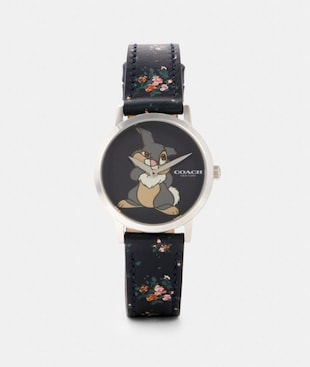 DISNEY X COACH CHELSEA WATCH WITH THUMPER, 32MM