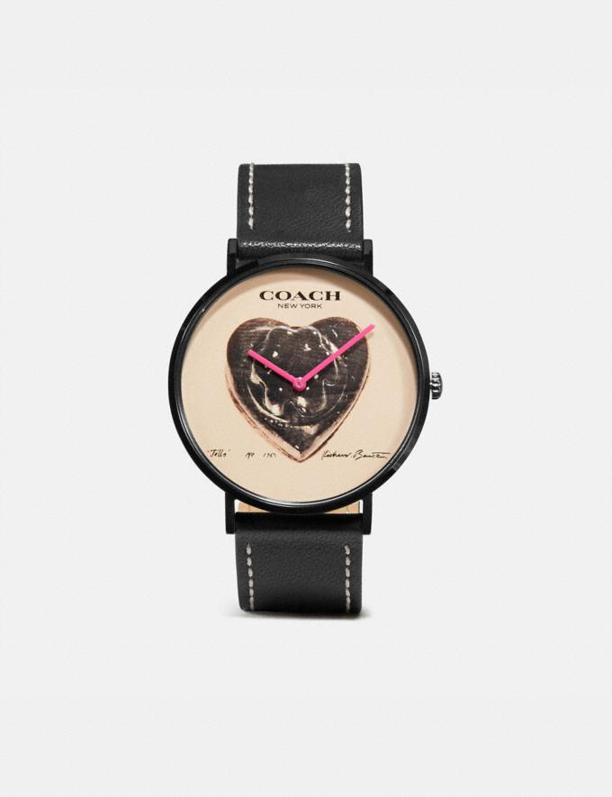 Coach Coach X Richard Bernstein Charles Watch, 41mm Black New Women's New Arrivals