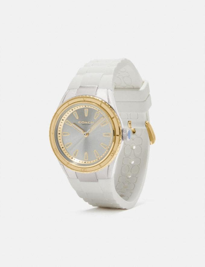 Coach Preston Sport Watch, 32mm White New Women's New Arrivals Accessories Alternate View 1