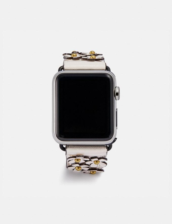 Coach Apple Watch® Strap With Floral Applique Chalk Women Accessories Jewelry & Watches