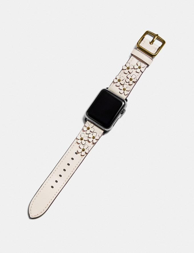 Coach Apple Watch® Strap With Floral Applique Chalk Women Accessories Jewelry & Watches Alternate View 1
