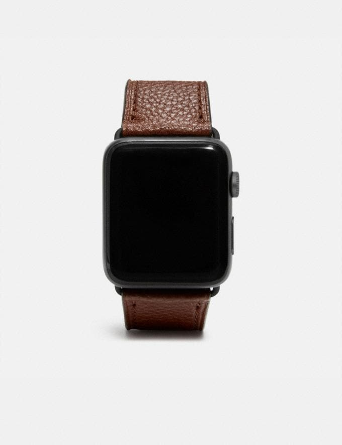 Coach Apple Watch® Strap Saddle Women Accessories Jewelry & Watches