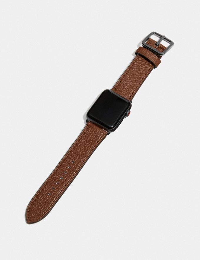 Coach Apple Watch® Strap Saddle Women Accessories Jewelry & Watches Alternate View 1