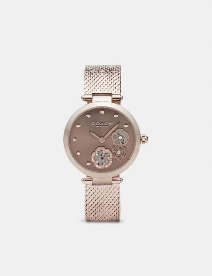 Coach Park Watch, 34mm Carnation Gold Women Accessories Watches