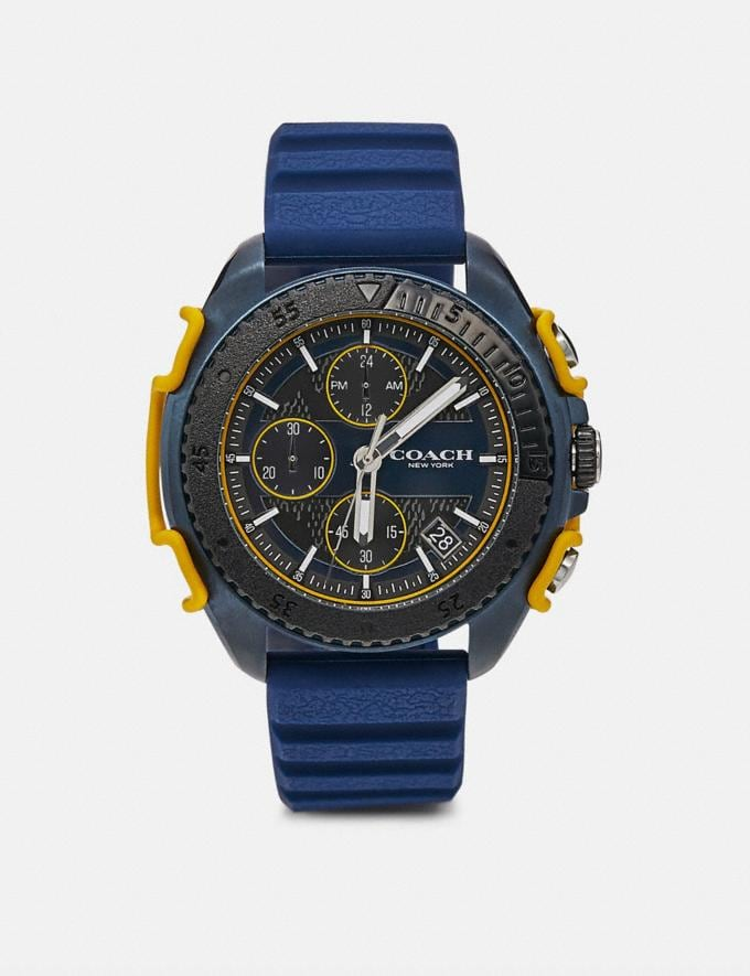Coach C001 Watch, 45mm Blue/Charcoal Men Accessories Watches