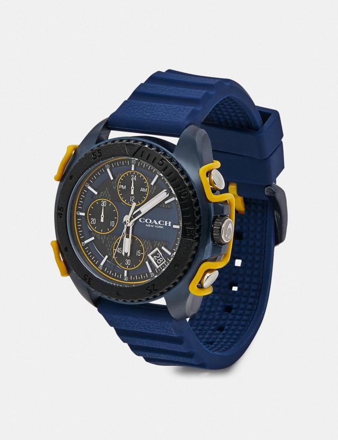 Coach C001 Watch, 45mm Blue/Charcoal Men Accessories Watches Alternate View 1