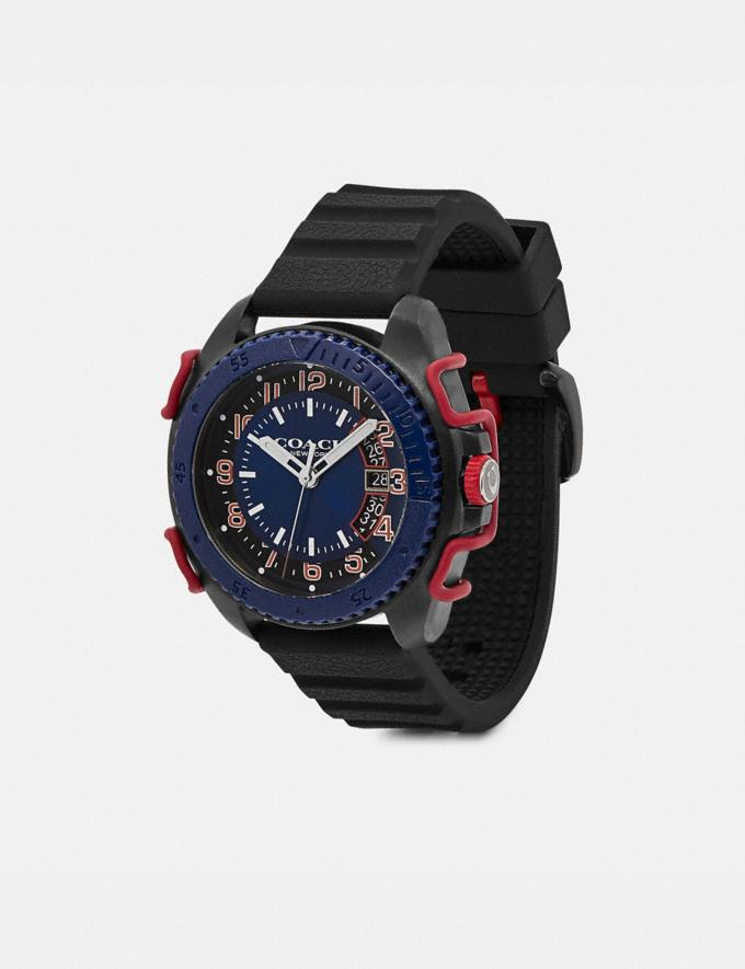 Coach C001 Watch, 45mm Black/Navy Men Accessories Watches Alternate View 1